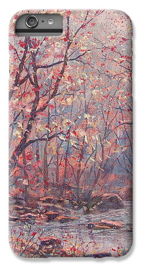 Landscape IPhone 7 Plus Case featuring the painting Autumn Harmony. by Leonard Holland