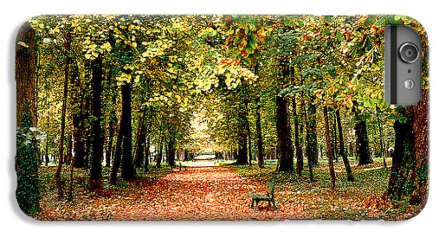 Autumn IPhone 7 Plus Case featuring the photograph Autumn In The Park by Nancy Mueller