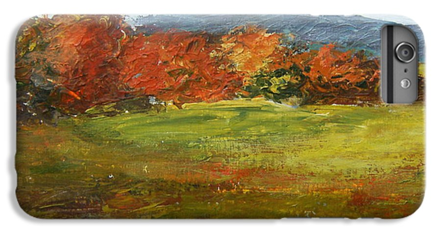 Landscape IPhone 7 Plus Case featuring the painting Autumn Is Here by Tami Booher