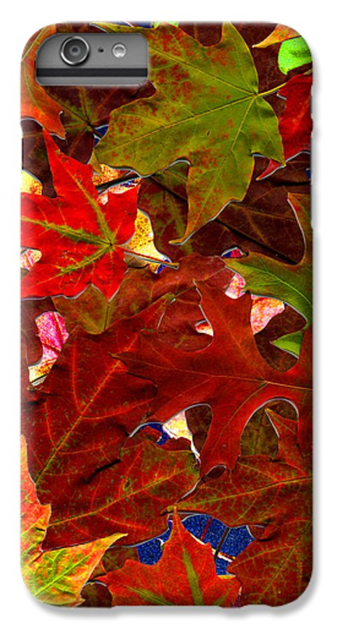 Collage IPhone 7 Plus Case featuring the photograph Autumn Leaves by Nancy Mueller