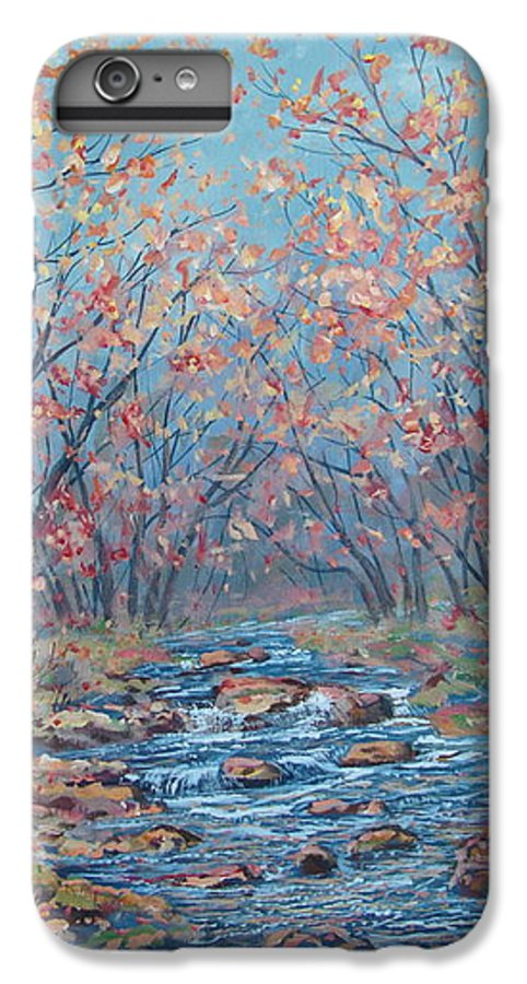 Landscape IPhone 7 Plus Case featuring the painting Autumn Serenity by Leonard Holland