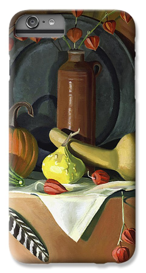 Still Life IPhone 7 Plus Case featuring the painting Autumn Still Life by Nancy Griswold