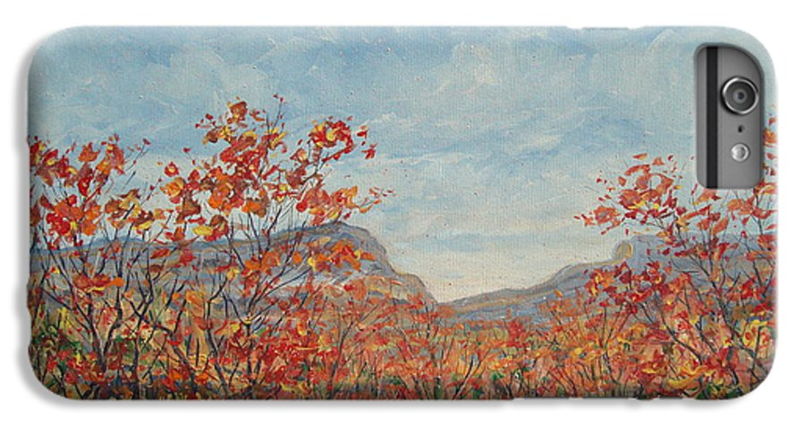 Paintings IPhone 7 Plus Case featuring the painting Autumn View. by Leonard Holland