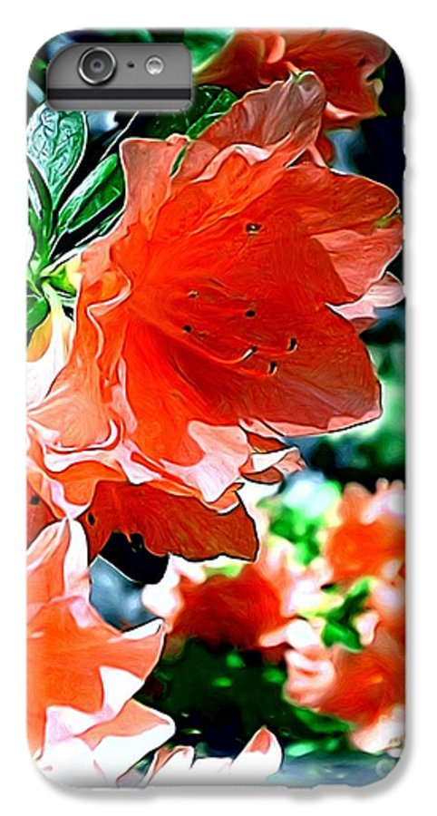 Fine Art IPhone 7 Plus Case featuring the painting Azaleas In The Spring by Patricia Griffin Brett
