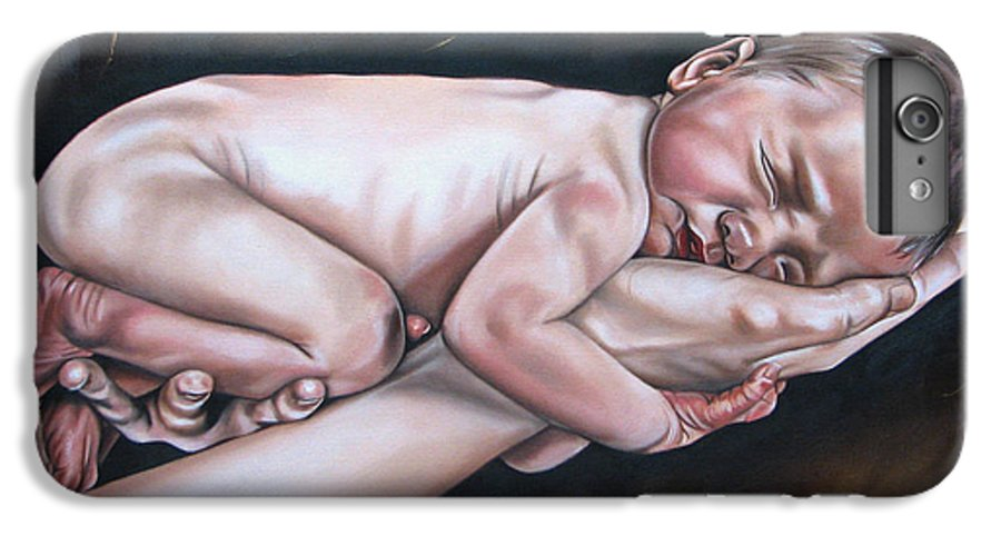 Figure IPhone 7 Plus Case featuring the painting Baby by Ilse Kleyn