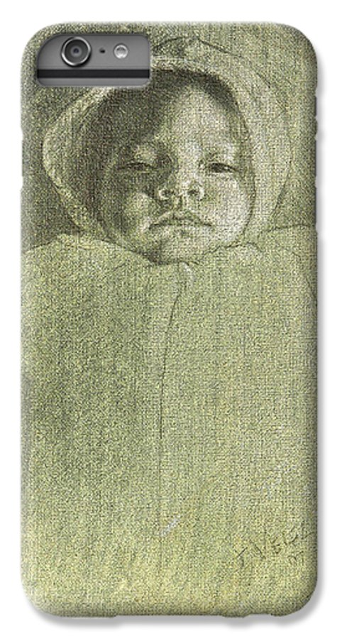 IPhone 7 Plus Case featuring the painting Baby Self Portrait by Joe Velez