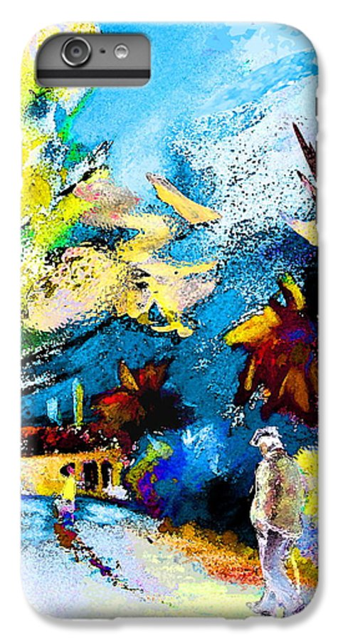 Pastel Painting IPhone 7 Plus Case featuring the painting Back Home by Miki De Goodaboom
