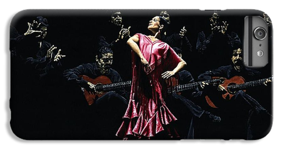 Flamenco IPhone 7 Plus Case featuring the painting Bailarina Orgullosa Del Flamenco by Richard Young