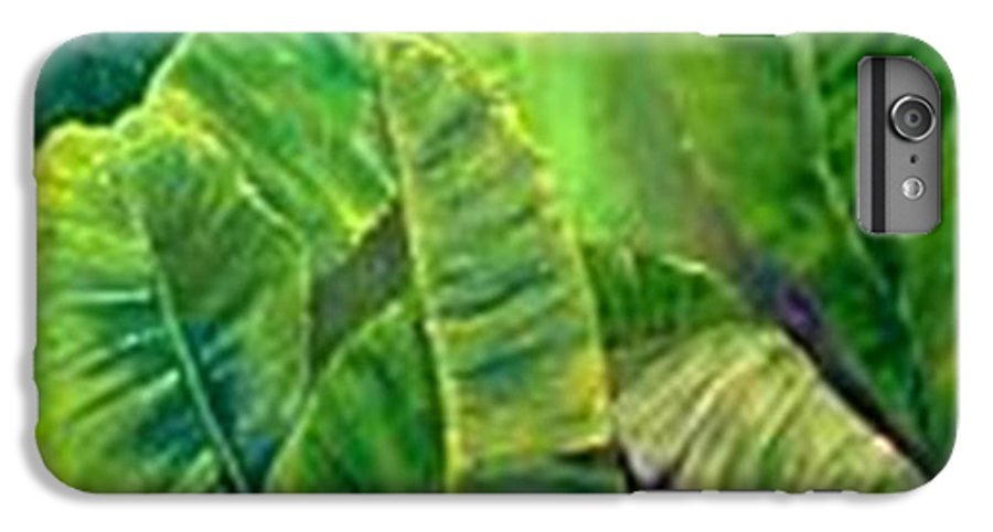 IPhone 7 Plus Case featuring the painting Banana Leaves by Carol P Kingsley