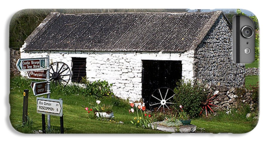 Ireland IPhone 7 Plus Case featuring the photograph Barn At Fuerty Church Roscommon Ireland by Teresa Mucha