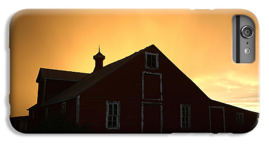 Barn IPhone 7 Plus Case featuring the photograph Barn At Sunset by Jerry McElroy