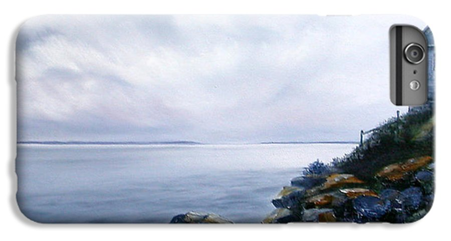 Ocean IPhone 7 Plus Case featuring the painting Bass Harbor Maine by Brenda Ellis Sauro