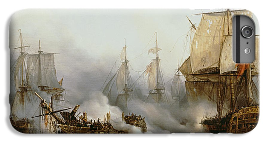 Battle Of Trafalgar (1805) (oil On Canvas) By Louis Philippe Crepin (1772-1851) IPhone 7 Plus Case featuring the painting Battle Of Trafalgar by Louis Philippe Crepin