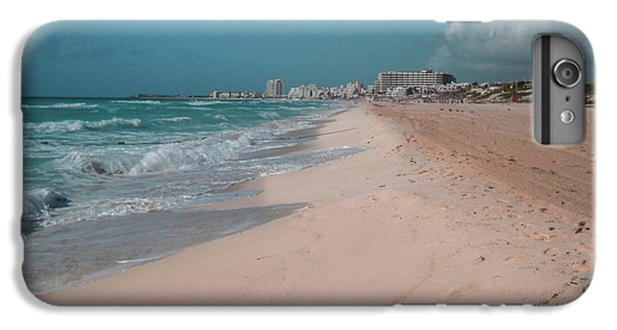 Beach IPhone 7 Plus Case featuring the digital art Beautiful beach in Cancun, Mexico by Nicolas Gabriel Gonzalez