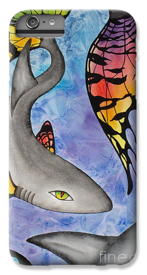 Surreal IPhone 7 Plus Case featuring the painting Beauty In The Beasts by Lucy Arnold