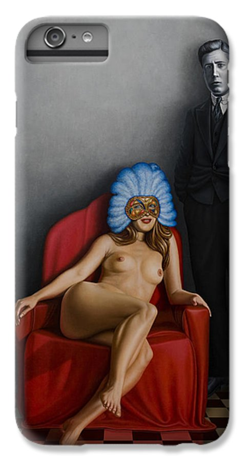 Nude IPhone 7 Plus Case featuring the painting Beauty Of The Carnival by Horacio Cardozo