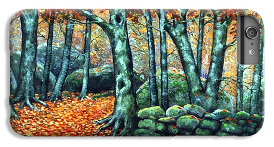 Landscape IPhone 7 Plus Case featuring the painting Beech Woods by Frank Wilson