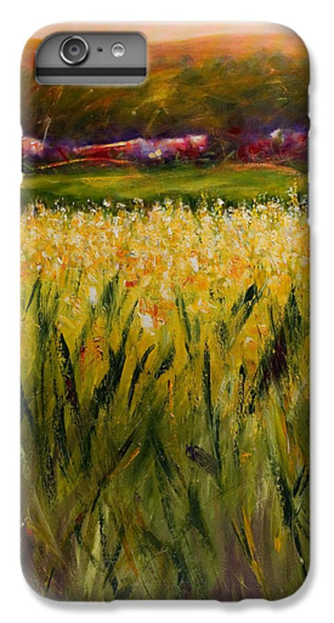 Landscape IPhone 7 Plus Case featuring the painting Beyond The Valley by Shannon Grissom