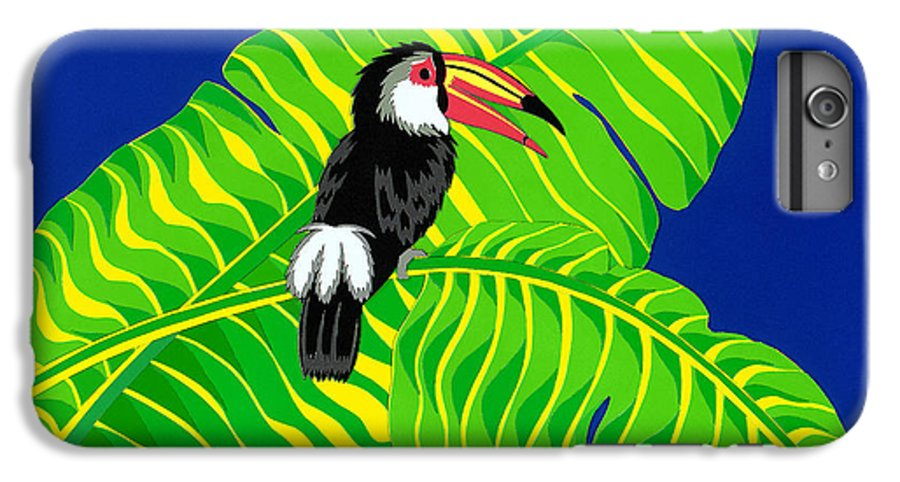 Nature IPhone 7 Plus Case featuring the drawing Big Billed Bird by Lucyna A M Green
