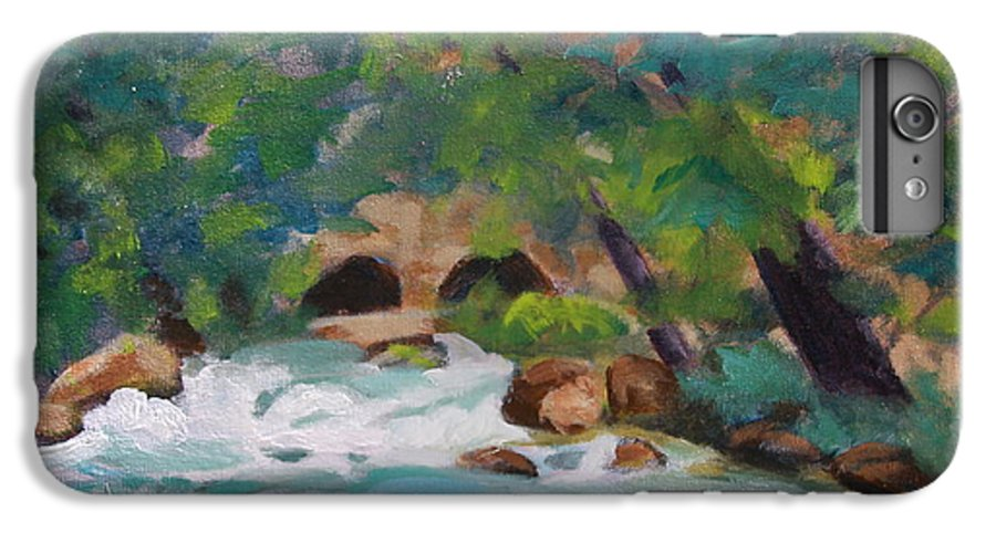 Impressionistic IPhone 7 Plus Case featuring the painting Big Spring On The Current River by Jan Bennicoff
