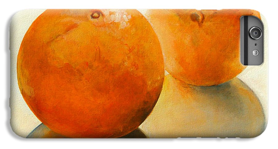 Still Life IPhone 7 Plus Case featuring the painting Billes Oranges by Muriel Dolemieux