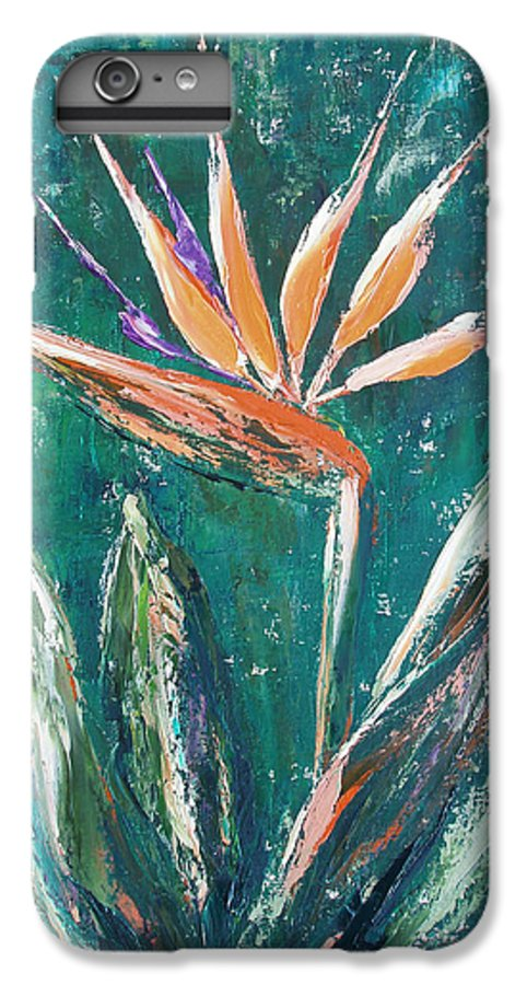 Bird Of Paradise IPhone 7 Plus Case featuring the painting Bird Of Paradise by Gina De Gorna