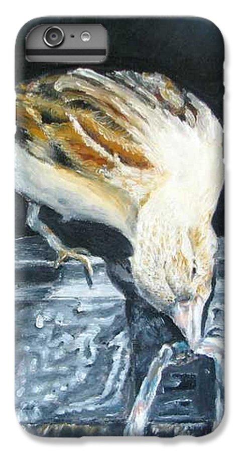 Oil Painting On Canvas IPhone 7 Plus Case featuring the painting Bird Original Oil Painting by Natalja Picugina