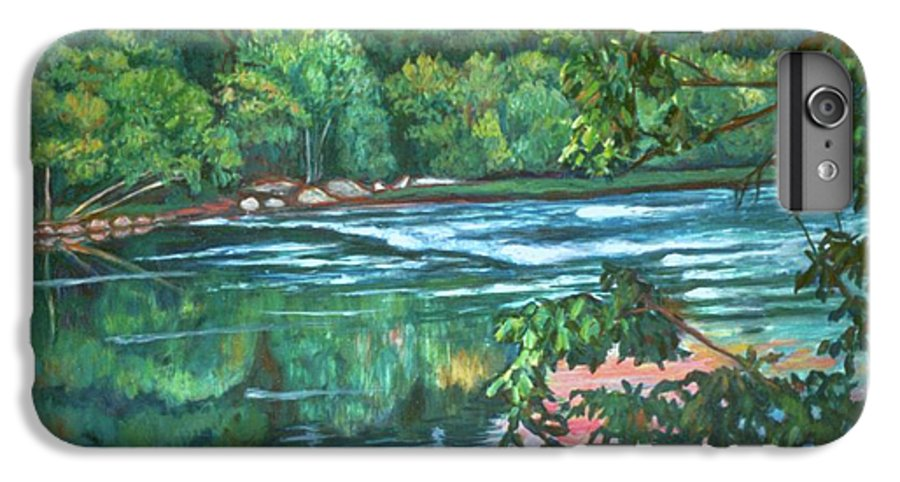 River IPhone 7 Plus Case featuring the painting Bisset Park Rapids by Kendall Kessler