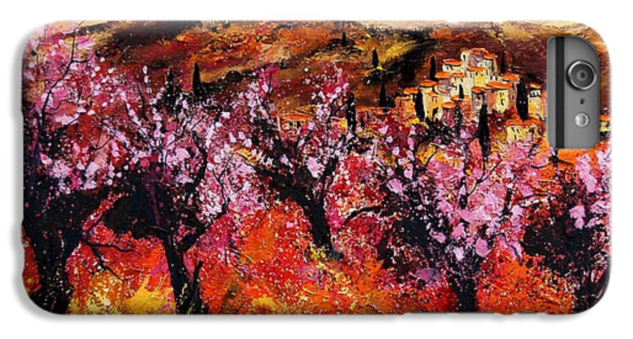 Provence Cherrytree Summer Spring IPhone 7 Plus Case featuring the painting Blooming Cherry Trees by Pol Ledent