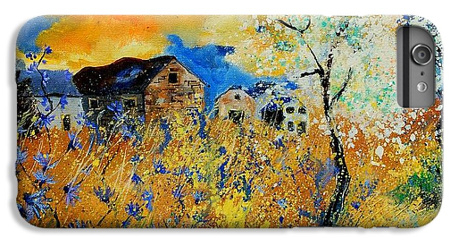Poppies IPhone 7 Plus Case featuring the painting Blooming Trees by Pol Ledent