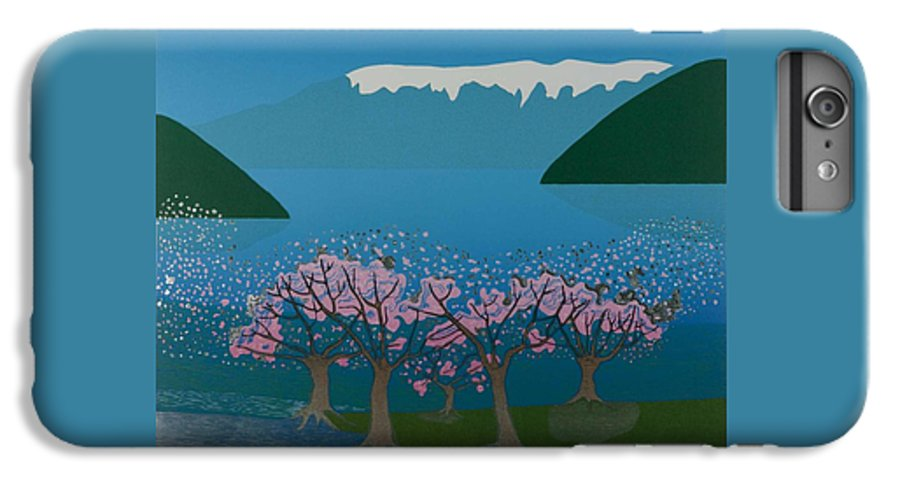 Landscape IPhone 7 Plus Case featuring the mixed media Blossom In The Hardanger Fjord by Jarle Rosseland