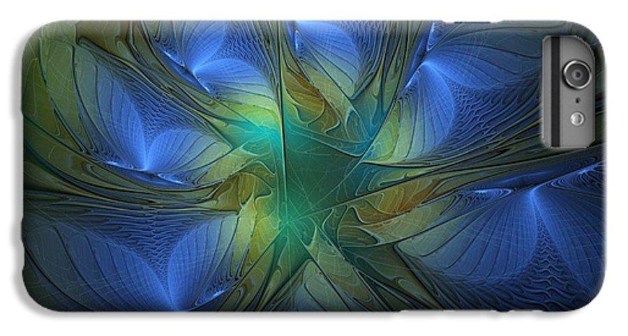 Digital Art IPhone 7 Plus Case featuring the digital art Blue Butterflies by Amanda Moore