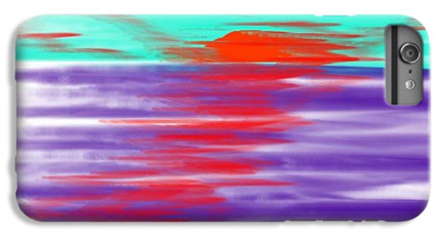 Sky.clouds.sun.sunrays.sunset.sea.water.reflection.slow Waves.deep Water.evening.rest.silence IPhone 7 Plus Case featuring the digital art Blue Deep Evening by Dr Loifer Vladimir