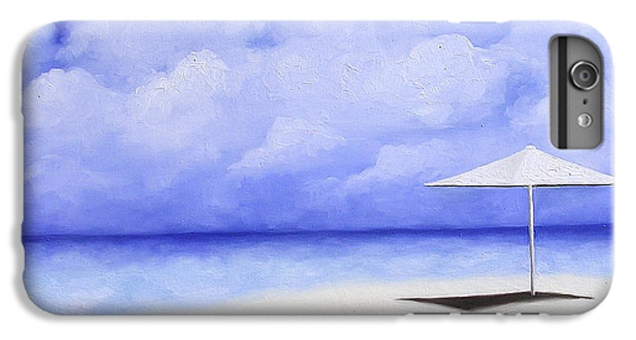 Seascape IPhone 7 Plus Case featuring the painting Blue Isolation by Trisha Lambi