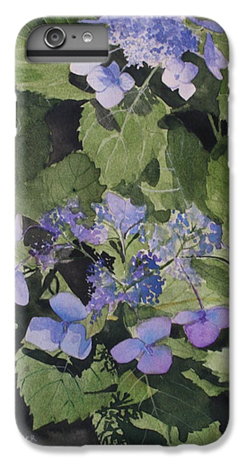 Flowers IPhone 7 Plus Case featuring the painting Blue Lace by Jean Blackmer