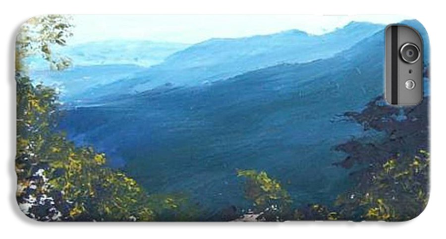 Landscape IPhone 7 Plus Case featuring the painting Blue Ridge by Tami Booher