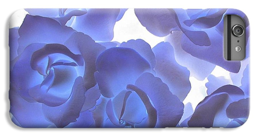 Blue IPhone 7 Plus Case featuring the photograph Blue Roses by Tom Reynen