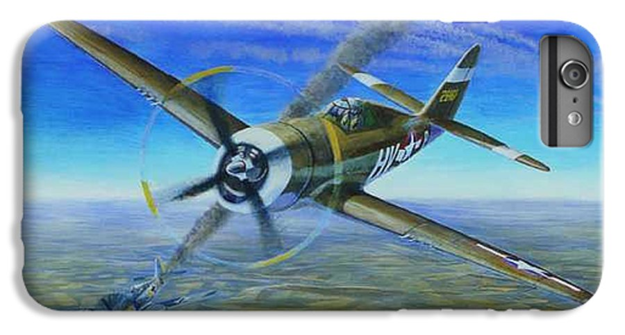 Bob Johnsons P-47 On October 10 IPhone 7 Plus Case featuring the painting Bob Johnsons Thunderbolt by Scott Robertson