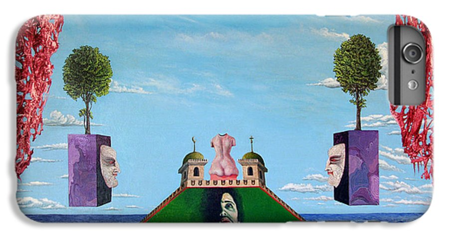 Painting IPhone 7 Plus Case featuring the painting Bogomils Monastic Retreat by Otto Rapp