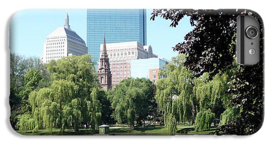 Garden IPhone 7 Plus Case featuring the photograph Boston Public Garden by Kathy Schumann