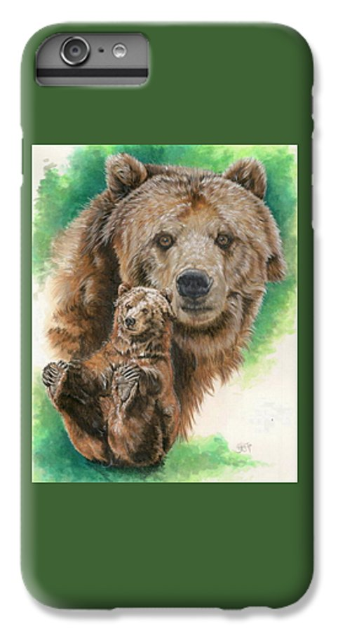 Bear IPhone 7 Plus Case featuring the mixed media Brawny by Barbara Keith