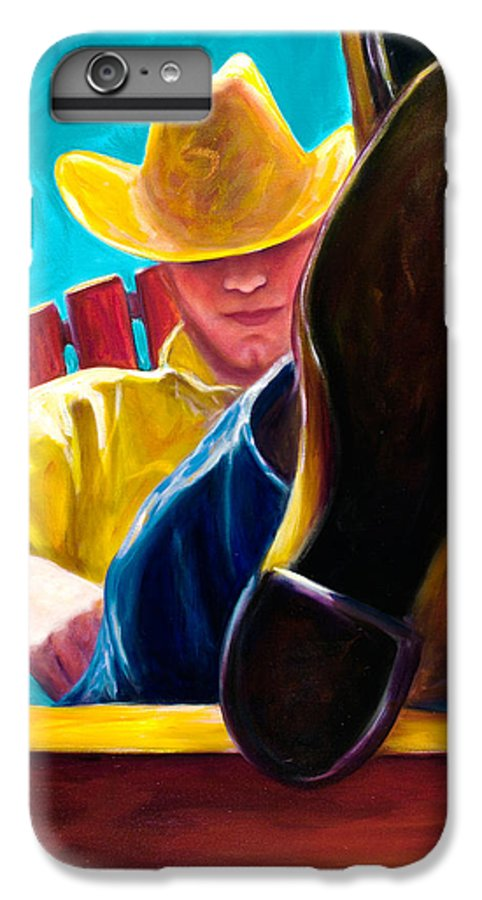 Western IPhone 7 Plus Case featuring the painting Break Time by Shannon Grissom