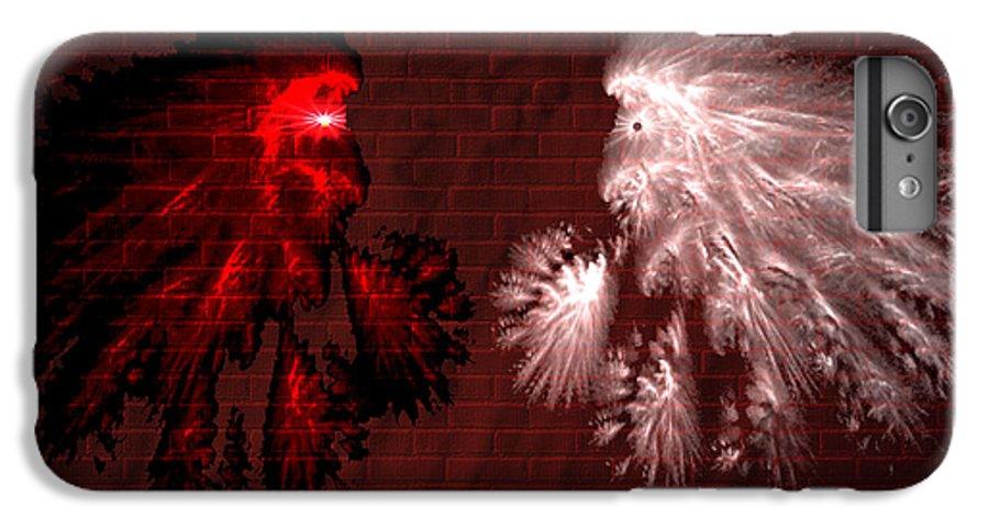 War IPhone 7 Plus Case featuring the digital art Brick Graffiti by Evelyn Patrick