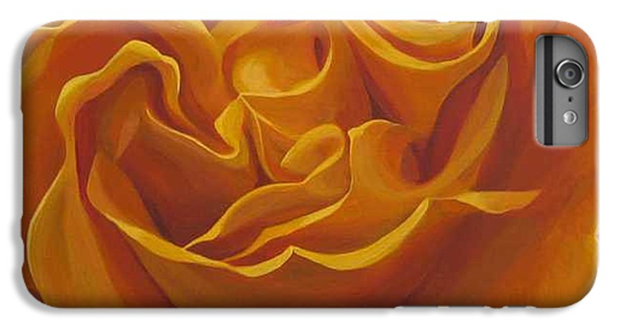 Yellow Rose In The Italian Countryside IPhone 7 Plus Case featuring the painting Bright As Yellow by Hunter Jay
