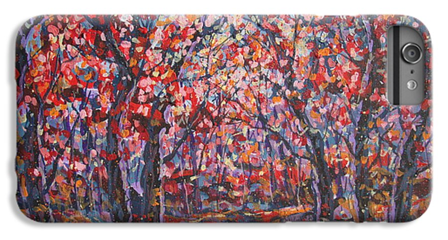 Forest IPhone 7 Plus Case featuring the painting Brilliant Autumn. by Leonard Holland