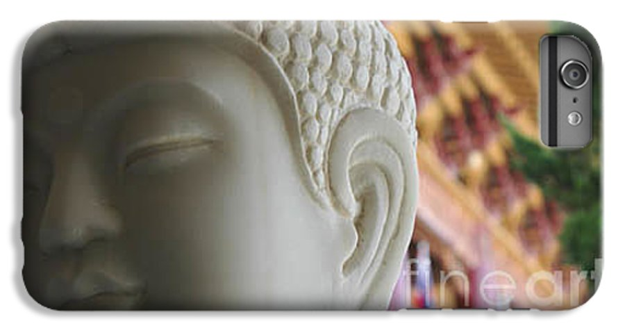 Zen IPhone 7 Plus Case featuring the photograph Buddha At Hsi Lai Temple by Michael Ziegler