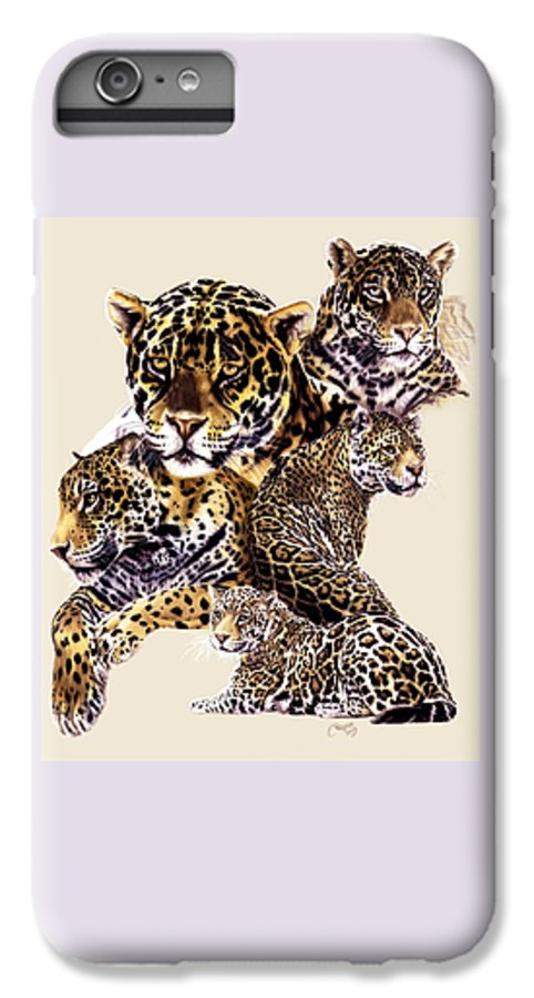 Jaguar IPhone 7 Plus Case featuring the drawing Burn by Barbara Keith