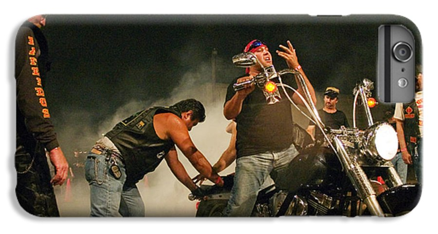 Biker IPhone 7 Plus Case featuring the photograph Burn Out by Skip Hunt