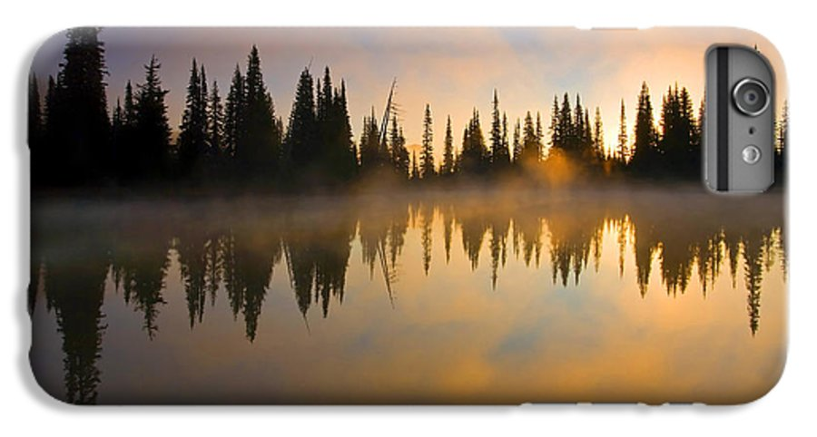 Lake IPhone 7 Plus Case featuring the photograph Burning Dawn by Mike Dawson