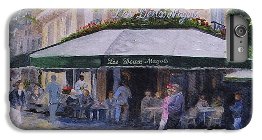 Cafe Magots IPhone 7 Plus Case featuring the painting Cafe Magots by Jay Johnson